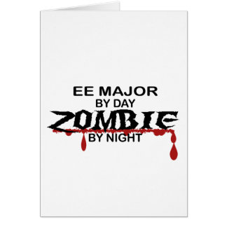 EE Major Zombie Greeting Card
