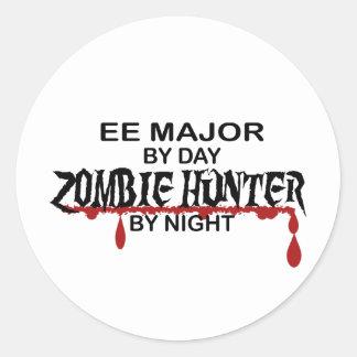 EE Major Zombie Hunter Round Sticker