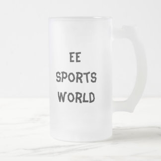 EE Sports World Frosted Glass Beer Mug
