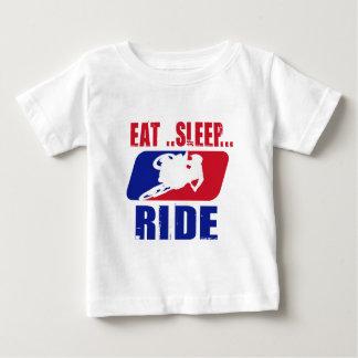 Eeat Sleep and ride Baby T-Shirt
