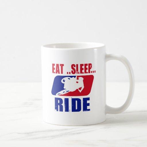 Eeat Sleep and ride Coffee Mugs