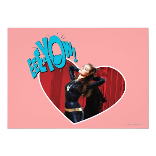 EEE-YOW! Catwoman Personalized Invitation