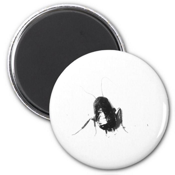 EEEK! There's a Cockroach! 6 Cm Round Magnet