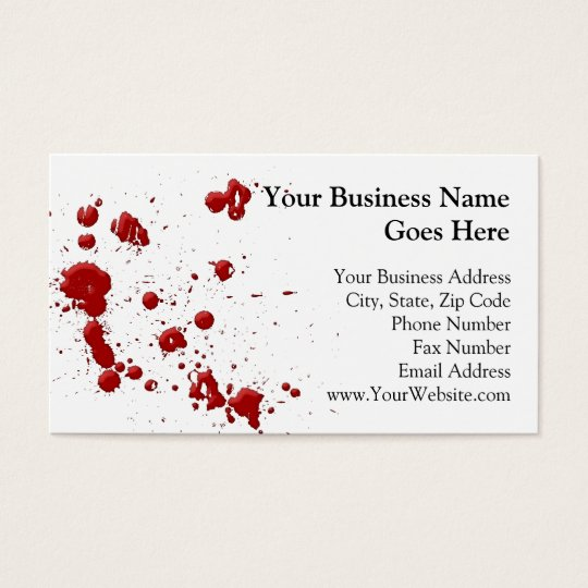 Eeew, is that blood on your business card