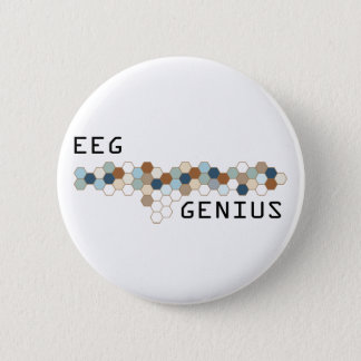 EEG Genius 6 Cm Round Badge