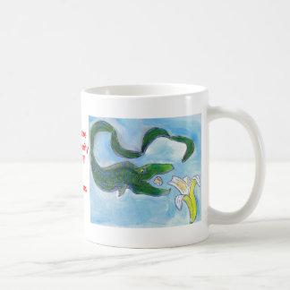 Eels eat bananas! basic white mug