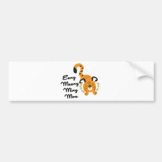Eeny Meeny Miny Moe Bumper Stickers