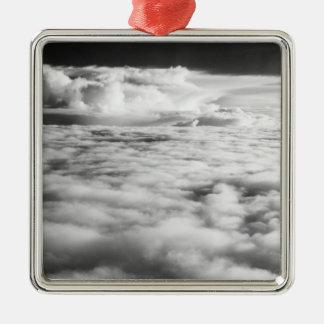 Eerie cloudscape at sunrise. 2 Silver-Colored square decoration