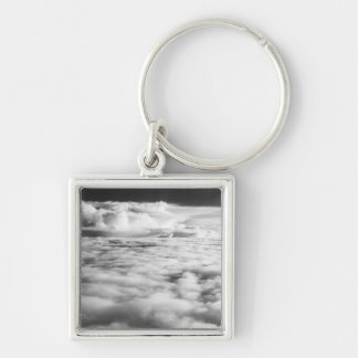 Eerie cloudscape at sunrise. 2 Silver-Colored square key ring