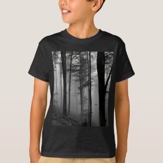 EERIE FOREST TREES LEAVES B&W T-Shirt