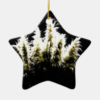 Eerie Glow Pampas Grass Christmas Ornament