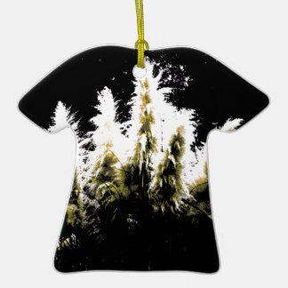 Eerie Glow Pampas Grass Ceramic T-Shirt Decoration