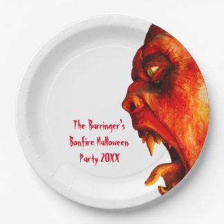 Eerie Horror Monster Halloween Party 9 Inch Paper Plate