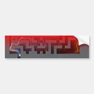 Eerie maze - Bumper Stickers