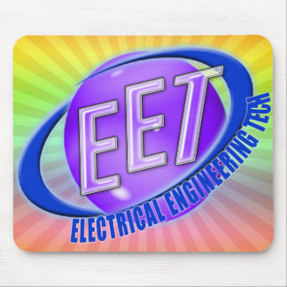 EET ORB SWOOSH LOGO ELECTRICAL ENGINEERING TECH MOUSE PAD