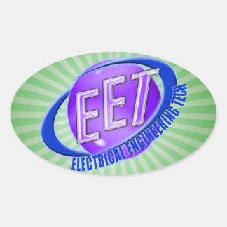 EET ORB SWOOSH LOGO ELECTRICAL ENGINEERING TECH OVAL STICKER