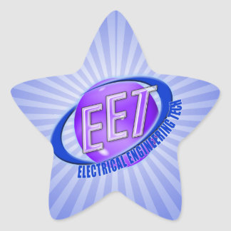 EET ORB SWOOSH LOGO ELECTRICAL ENGINEERING TECH STAR STICKER