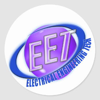 EET ORB SWOOSH LOGO ELECTRICAL ENGINEERING TECH ROUND STICKER