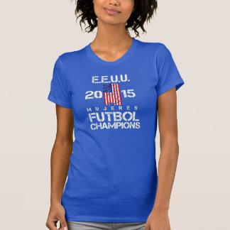 EEUU 2015 Mujeres Futbol Champions T-Shirt