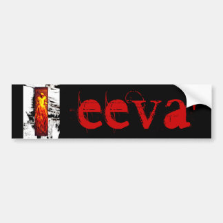 EEVA' TreeMan Name Bumper Sticker