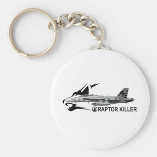 EF-18G Growler Basic Round Button Key Ring