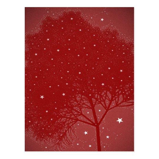effect tree red christmas postcard