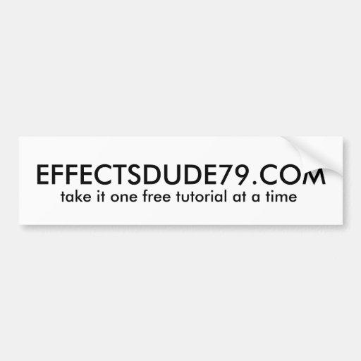 EFFECTSDUDE79.COM BUMPER STICKER