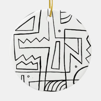 Effervescent Transformative Discreet Fortunate Round Ceramic Decoration