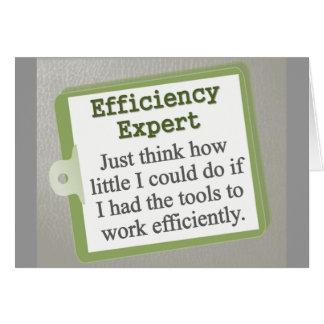 Efficiency Expert  Note Card