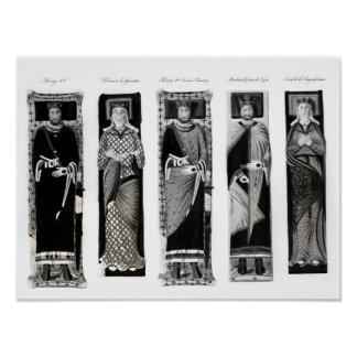 Effigies of Henry II  Eleanor of Aquitaine Poster