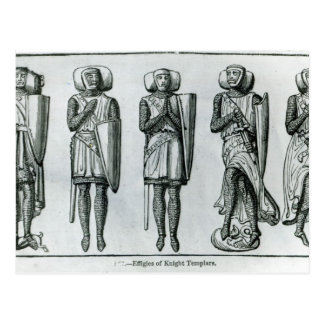 Effigies of Knight Templars Postcard