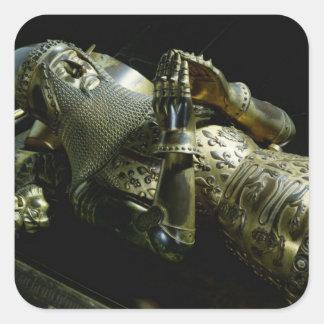 Effigy of Edward the Black Prince, 1376 Square Sticker