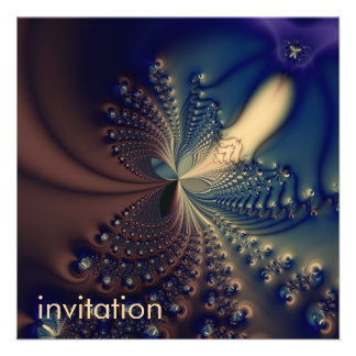 Efflorescence II · Fractal Art · Blue Cream Announcement