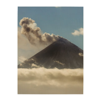 Effusive eruption Klyuchevskaya Sopka. Kamchatka Wood Print