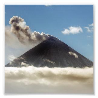 Effusive eruption Klyuchevskaya Sopka. Russia Photo Print