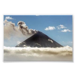 Effusive eruption Klyuchevskoy Volcano. Russia Photo Print