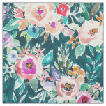 EFFUSIVE FLORAL Bold Colourful Boho Watercolor Fabric