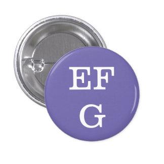 'EFG' Alphabet Collectible (#6) 3 Cm Round Badge