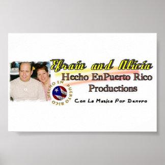 Efrain and Alicia Hecho en Puerto Rico Productions Print