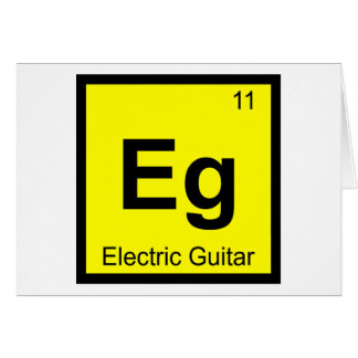 Eg - Electric Guitar Music Chemistry Symbol Card