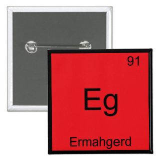 Eg - Ermahgerd Funny Meme Element Chemistry Tee 15 Cm Square Badge