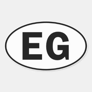 EG Oval Identity Sign Oval Sticker