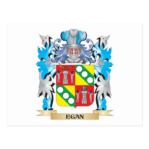 Egan Coat of Arms - Family Crest Postcard