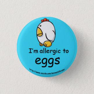 Egg Allergy 3 Cm Round Badge