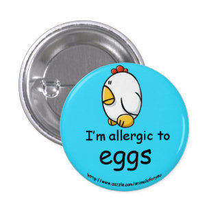 Egg Allergy 3 Cm Round Badge