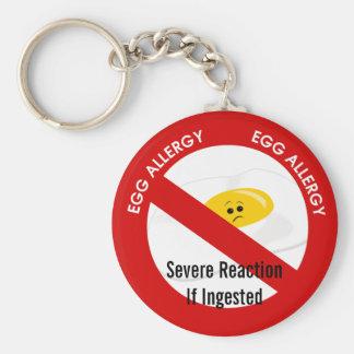 Egg Allergy Alert Key Ring