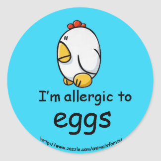 Egg Allergy Classic Round Sticker