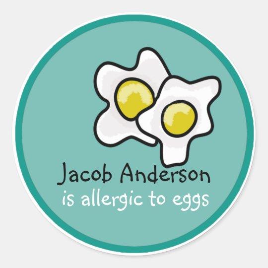 Egg Allergy Customisable Sticker