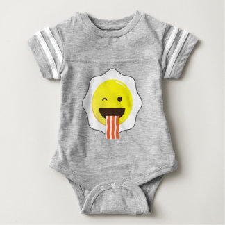 Egg and Bacon Wink Baby Bodysuit