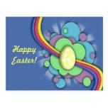 Egg and Rainbow, postcard